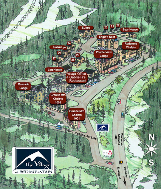 Red Mountain Village location map